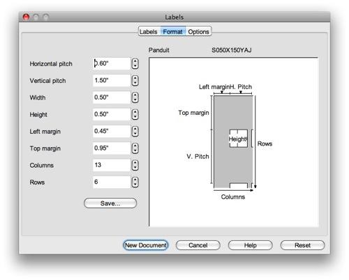 Excel template for panduit labels s100x150vac weatherpoks.